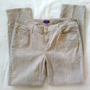 NYDJ Python Print Skinny Jeans Pants